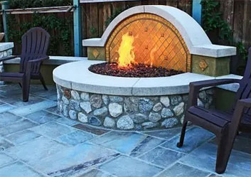 Outdoor Kitchen Fire